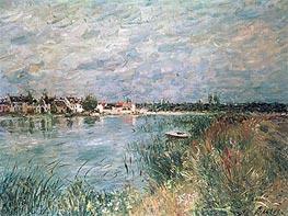 Alfred Sisley | The River Banks at Saint-Mammes, 1880 | Giclée Canvas Print