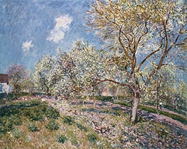 Alfred Sisley | Springtime at Veneux, 1880 | Giclée Canvas Print