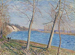 Alfred Sisley | The Banks of the River at Veneux, 1881 | Giclée Canvas Print