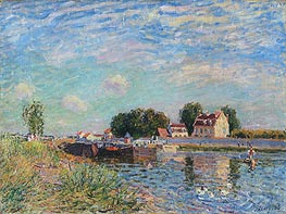 Alfred Sisley | The Loing at Saint-Mammes, 1885 | Giclée Canvas Print