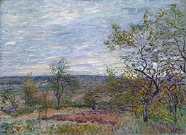 Alfred Sisley | Windy Day at Veneux, 1882 | Giclée Canvas Print