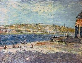 Alfred Sisley | River Banks at Saint-Mammes, 1884 | Giclée Canvas Print