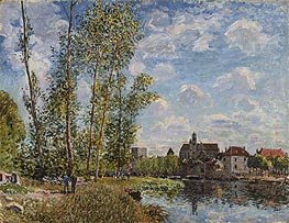 Alfred Sisley | Moret, View from the Loing, May Afternoon, 1888 | Giclée Canvas Print
