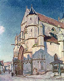 Alfred Sisley | The Church at Moret, 1894 | Giclée Canvas Print