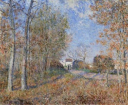 Alfred Sisley | Road at the Forest Fringe (Forest of Fontainebleau near Moret-sur-Loing), 1883 | Giclée Canvas Print