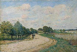 Alfred Sisley | The Road to Mantes, 1874 | Giclée Canvas Print