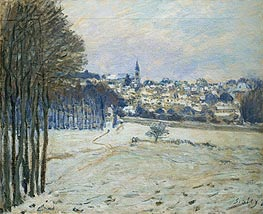 Alfred Sisley | Snow at Marly-le-Roi, 1875 | Giclée Canvas Print