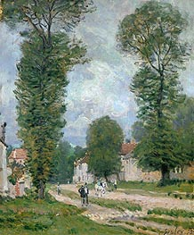 Alfred Sisley | The Road to Versailles, 1875 | Giclée Canvas Print