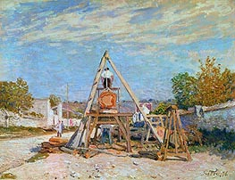 Alfred Sisley | The Woodcutters (Sawing Wood), 1876 | Giclée Canvas Print