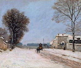 Alfred Sisley | Port-Marly in Winter, 1876 | Giclée Canvas Print