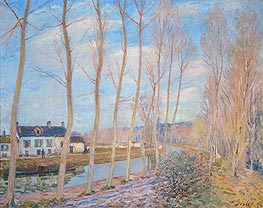 Alfred Sisley | The Canal at Loing, 1892 | Giclée Canvas Print
