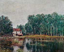 Alfred Sisley | The Banks of the Canal at Moret-sur-Loing, 1892 | Giclée Canvas Print