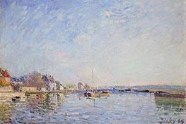 Alfred Sisley   Canal du Loing, 1884   Giclée Canvas Print
