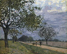 Alfred Sisley | The Road from Versailles to Louveciennes, c.1879 | Giclée Canvas Print