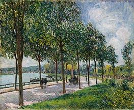 Alfred Sisley   Allée of Chestnut Trees, 1878   Giclée Canvas Print