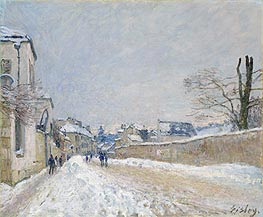 Alfred Sisley   Rue Eugène Moussoir at Moret: Winter, 1891   Giclée Canvas Print