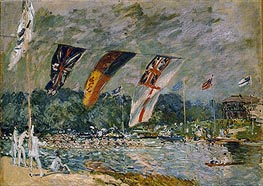 Alfred Sisley | Regatta at Molesey, near Hampton Court, 1874 | Giclée Canvas Print