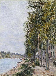 Alfred Sisley | Road Along the Seine at Saint-Mammes, c.1880 | Giclée Canvas Print