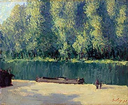 Alfred Sisley | Banks of the Loing, 1891 | Giclée Canvas Print