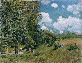 Alfred Sisley | The Road from Versailles to Saint-Germain, 1875 | Giclée Canvas Print