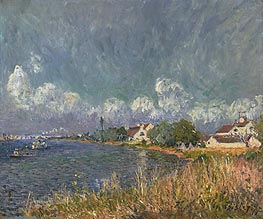 Alfred Sisley | The Seine at Billancourt, 1877 | Giclée Canvas Print