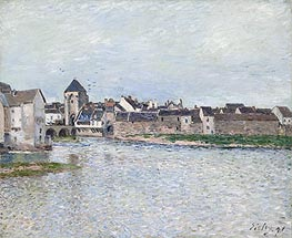 Alfred Sisley | Bridge at Moret-sur-Loing, 1891 | Giclée Canvas Print