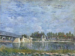 Alfred Sisley | The Bridge at Saint-Mammes, 1881 | Giclée Canvas Print