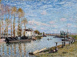 Alfred Sisley | The Loing at Saint-Mammès, 1882 | Giclée Canvas Print