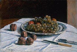 Alfred Sisley | Grapes and Walnuts on a Table, 1876 | Giclée Canvas Print