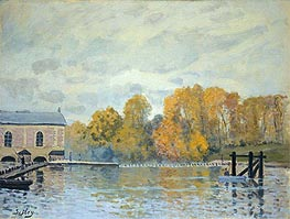 Alfred Sisley | Waterworks at Marly, c.1876 | Giclée Canvas Print
