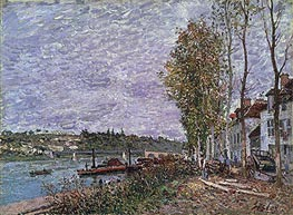 Alfred Sisley | Overcast Day at Saint-Mammès, c.1880 | Giclée Canvas Print