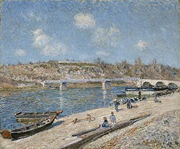 Alfred Sisley | The Beach at Saint-Mammès, 1884 | Giclée Canvas Print