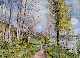 Alfred Sisley | Banks of the Seine, undated | Giclée Canvas Print