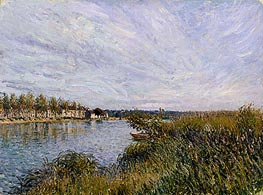 Alfred Sisley | View of St-Mammès, 1881 | Giclée Canvas Print