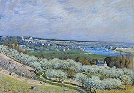 Alfred Sisley | The Terrace at Saint-Germain, Printemps, 1875 | Giclée Canvas Print
