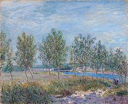 Alfred Sisley | Poplars on a River Bank, 1882 | Giclée Canvas Print