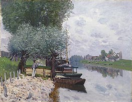 Alfred Sisley | The Seine at Bougival, 1872 | Giclée Canvas Print