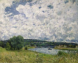 Alfred Sisley | The Seine at Suresnes, 1877 | Giclée Canvas Print