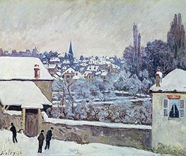 Alfred Sisley | Winter in Louveciennes, 1876 | Giclée Canvas Print