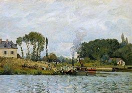 Alfred Sisley   Boats at the Lock at Bougival, 1873   Giclée Canvas Print