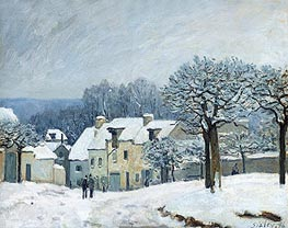 Alfred Sisley | The Place du Chenil at Marly-le-Roi, Snow, 1876 | Giclée Canvas Print