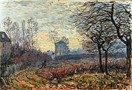Alfred Sisley   Landscape near Louveciennes, 1873   Giclée Canvas Print