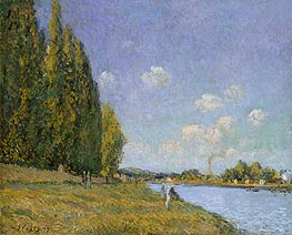 Alfred Sisley | The Seine at Billancourt | Giclée Canvas Print