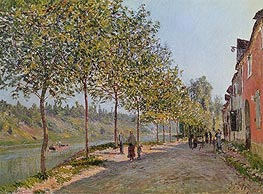 Alfred Sisley | June Morning in Saint-Mammes, 1884 | Giclée Canvas Print