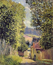Alfred Sisley | A Road in Louveciennes, 1883 | Giclée Canvas Print