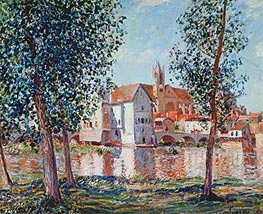 Alfred Sisley | The Loing at Moret, September Morning, 1888 | Giclée Canvas Print