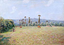 Alfred Sisley | The Hills of La Bouille in Normandy - Morning, 1894 | Giclée Canvas Print