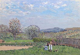 Alfred Sisley | Children Playing in the Meadow, 1873 | Giclée Canvas Print