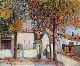 Alfred Sisley   Moret-sur-Loing (Rue de Fosses), 1892   Giclée Canvas Print