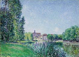 Alfred Sisley | The Loing and the Church at Moret, 1886 | Giclée Canvas Print